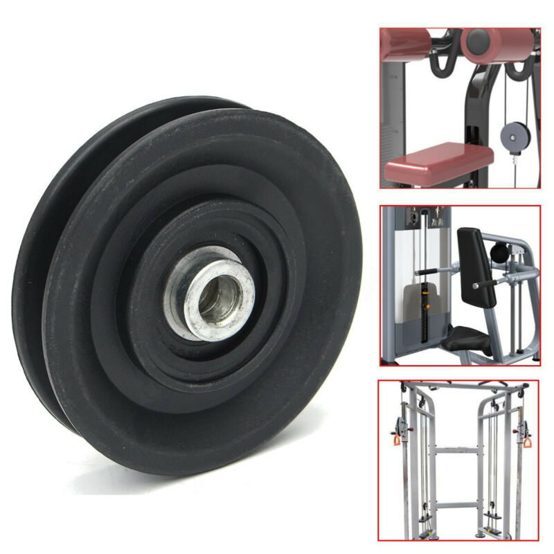 """3.5""""/90mm Universal Nylon Bearing Pulley Wheel Cable Gym Fit"""