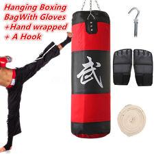 Sac de frappe boxing sport fitness combat punching boxe + Gants crochet Wrap