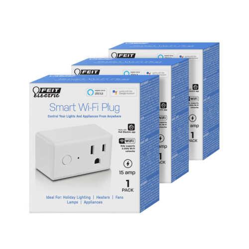 Wifi Smart Plug Compact Design Alexa Google Home Compatible 3 Pack