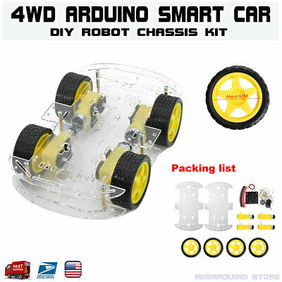 4wd Smart Robot Car Chassis Kits With Speed Encoder For Arduino