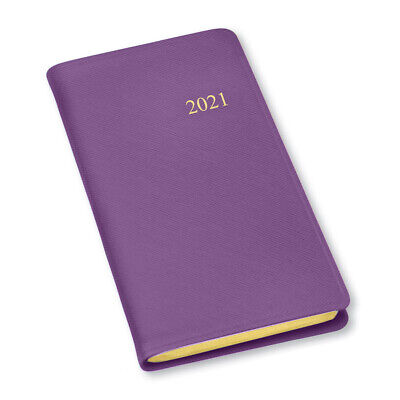 2021 Simulated Pocket Weekly Planner-208 Pages-soft Cover- 6x3.25-dark Purple