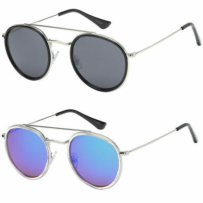 Men Women Black Silver Gold Metal Round Wire Frame Mirror Lens Sunglasses (Round Wire Frame Sunglasses)