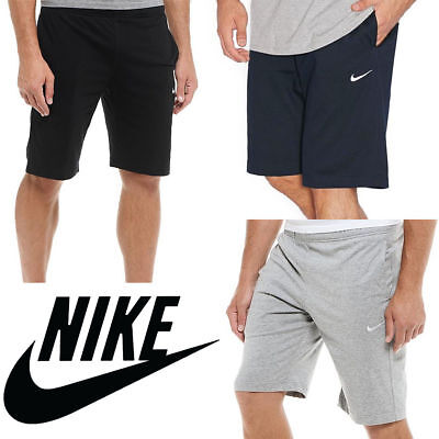 New With Tags Men's Nike Athletic Gym Muscle Logo Shorts Joggers Grey Black Navy ()