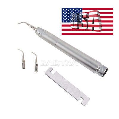 Usps Dental Super Sonic Air Scaler Handpiece 2 Hole With G1 G2 P1 Tips For Nsk