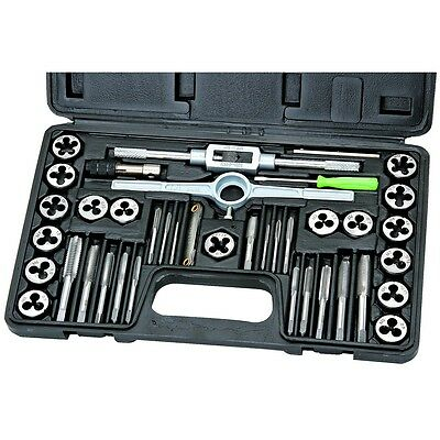 40 Piece Carbon Steel Metric Tap And Die Set Renew Threads