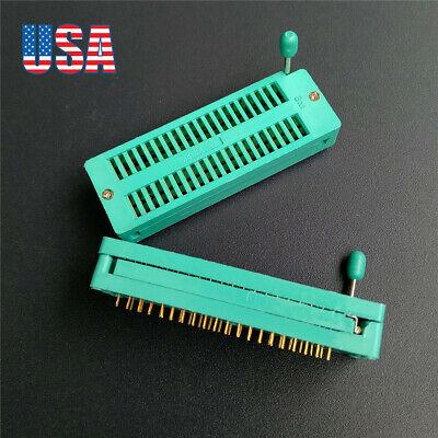 2pcs Quality Ic Lock Seat Zif Test Socket Universal 40pin