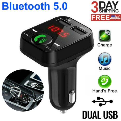Wireless Bluetooth Car Adapter FM Transmitter MP3 Radio Car Kit 2 USB Charger