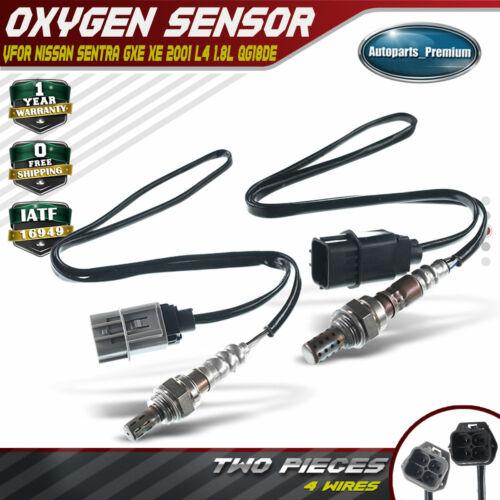 2x Downstream L+R O2 02 Oxygen Sensors for Nissan Sentra 2001 L4 1.8L QG18DE