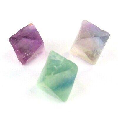 12 X 12 Natürliche (3 x Fluorit - Oktaeder / natürliche Kristalle Ø ca. 12 - 14 mm AA - Qualität DR)