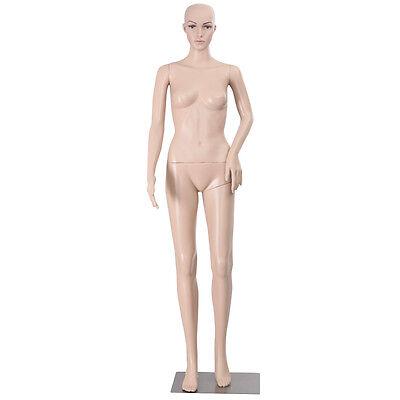 Goplus Full Body Female Mannequin Plastic Realistic Display Head Turns W Base