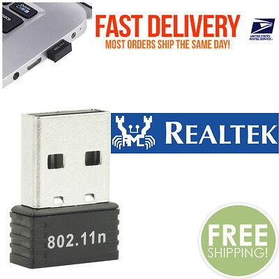 RealTEK Mini USB 300Mbps Wireless 802.11B/G/N LAN Card WiFi Adapter Nano Wlan