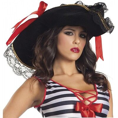 Womens Pirate Hat Adult Costume Halloween Fancy - Halloween Costume Pirate Accessories