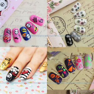 New-3D-Colorful-Nail-Art-Tips-Polish-Sticker-Decal-Wraps-Acrylic-DIY-Decoration