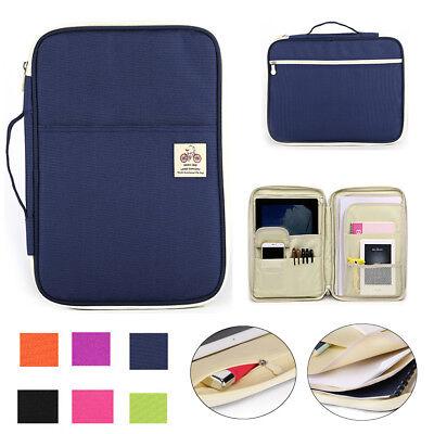 A4 Plastic File Document Bag Pouch Card Storage Holder Office School Organizer