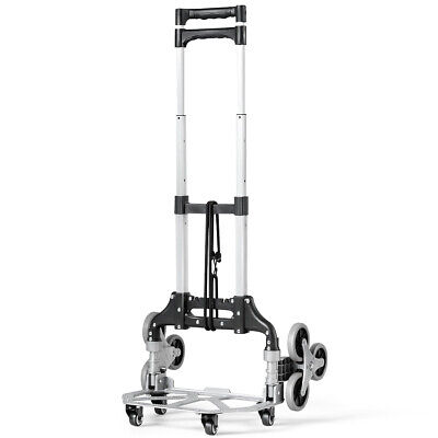 Folding Stair Climb Cart Portable Hand Truck Home Tool Utility W Bungee Cord