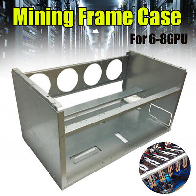 Open Air Frame Mining Miner Rig Stackable Case For 6 8 GPU ETH BTC Ethereum DIY