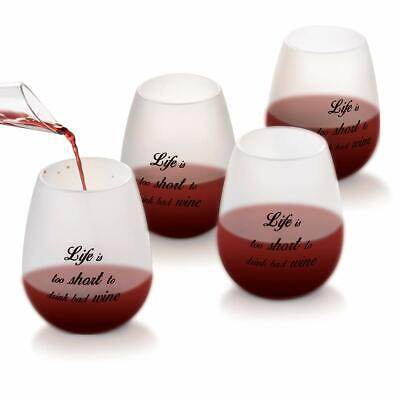 Silicone Wine Glasses Semi-Transparent Unbreakable for Outdoor Fun  [Pack of 4]