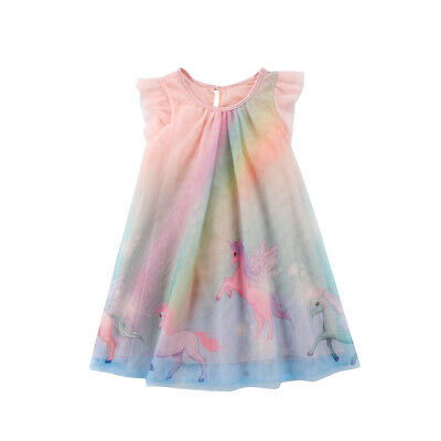 Toddle Baby Girls Dress Unicorn Party Pageant A Line Sundress Tulle Tutu Clothes - A Tutu Dress