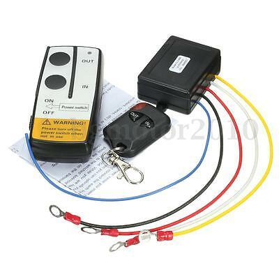 12V 315MHz 50FT Winch Wireless Remote Control Controller For Jeep Truck ATV NEW