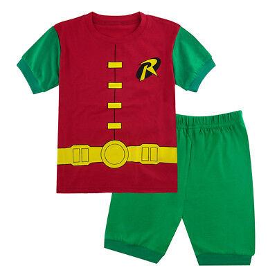 Kid Boy Robin Costume Pajamas Set Toddler Superhero Sleepwear Child Nightwear