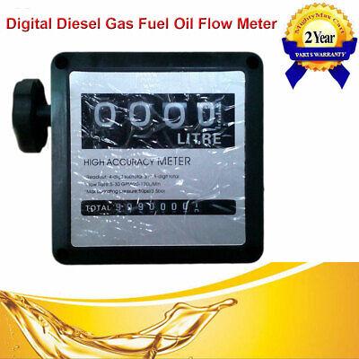 4 Digital Diesel Gasoline Fuel Petrol Oil Flow Meter Counter Gauge Bspt 1 Inlet