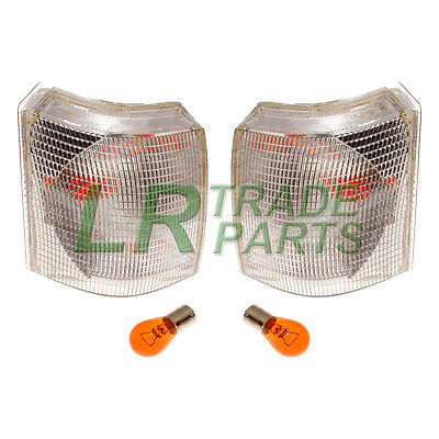 RANGE ROVER P38 NEW FRONT CLEAR INDICATOR LIGHTS LAMPS PAIR (X2) LAMP SET +BULBS