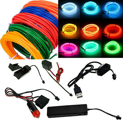 El Wire Sound Activated (2M 10M EL Wire Flexible Neon Light Glow Strip Tube Cool Wire Rope Car Decor)