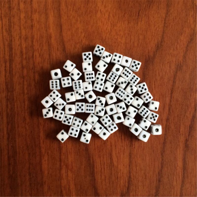 White Super Mini Dice Tiny Miniature 100pcs Set Of Game Supply Numbers Dice