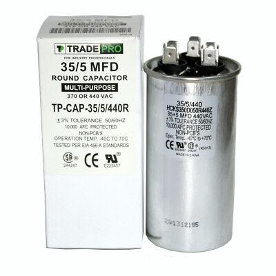Dual Run Capacitor 5+30 5//30 30//5 MFD uf 370v 440v AC Motor HVAC 440 370 vac v