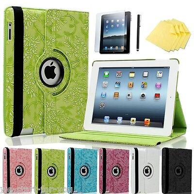 360° Apple iPad 4/3/2 Schutz Hülle+Folie Tasche Smart Cover Case Etui