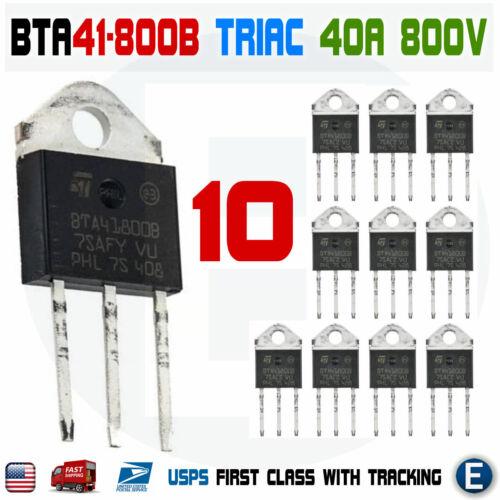 10Pcs BTA41-800B Triac ST MICRO Thyristor BTA41800B STM 40A 800V TOP-3L BTA41800