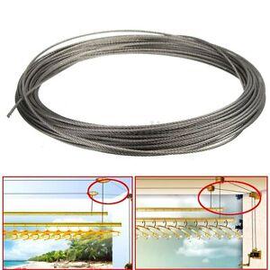 15m corde s 233 choir etendoir 224 linge cable fil 316 acier inox 7 7 structure 1 5mm ebay