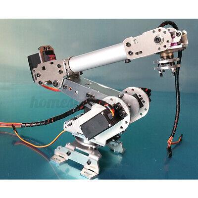 Us Aluminium 6 Dof Mechanical Robotic Arm Clamp Claw Mount Robot Tools Kits