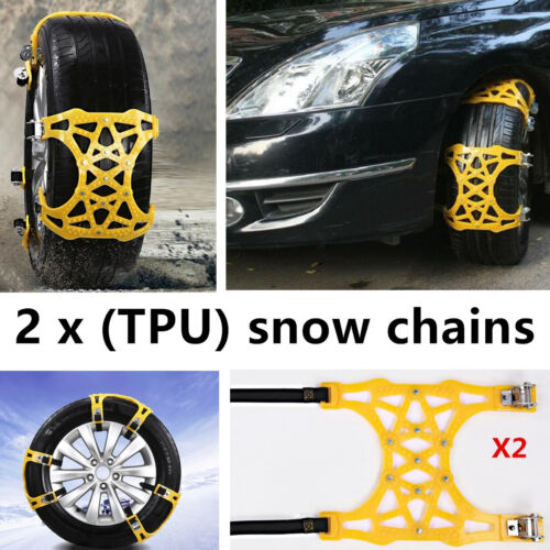 SUV Car Snow Chain Tire Accessory Upgrade Anti-Skid Emergency Snow Tire Chains