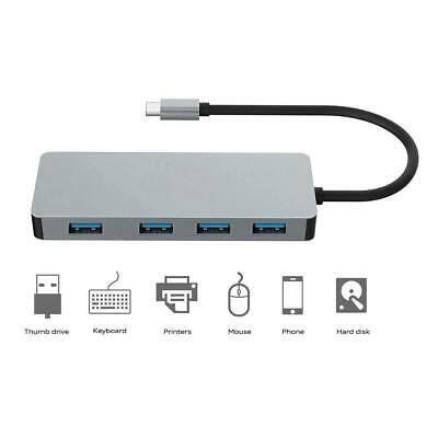 PLATINET 4-Port USB-C to USB 3.0 Adapter Aluminum Portable Data Hub