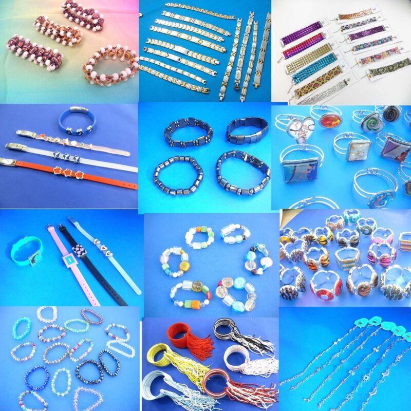 69 cents / bracelet, lot of 100 bracelets  bangles wholesale jewelry l