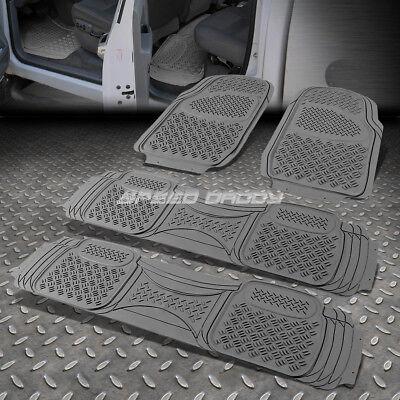 4PC ALL WEATHERSEASON HEAVY DUTY ABS FRONTBACK SEATS FLOOR MAT TRUCKSUV GRAY