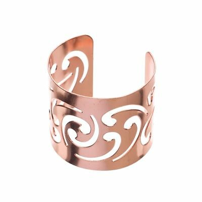 Metal Napkin Ring Holders, Bulk Napkin Rings, Set of 12 (Swirl, Rose Gold)