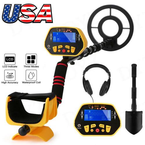 Deep Ground Waterproof Metal Detector Gold Finder+LCD Display Shovel Search Coil