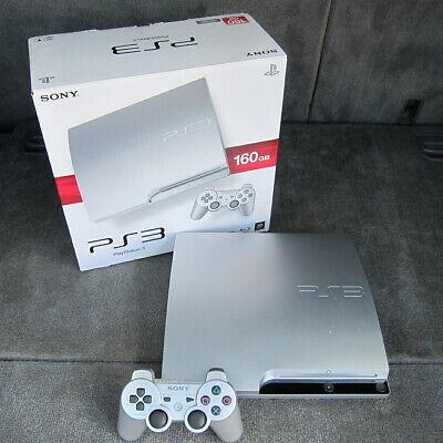 Sony PS3 Slim Satin Silver - Limited Edition - 3.55 OFW - Excellent Condition comprar usado  Enviando para Brazil