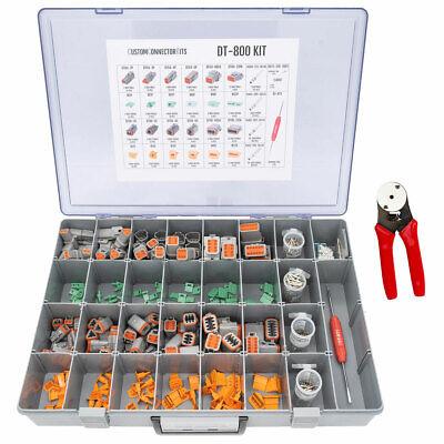 Dtm-800 - Deutsch Dtm 802 Piece Pro Connector Kit W Cp-463 Crimp Tool