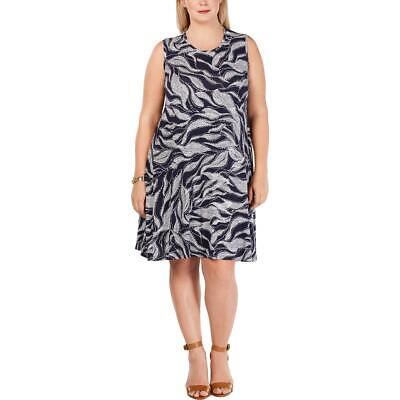 Style & Co. Womens Printed Sleeveless Swing Casual Dress Plus BHFO 0764