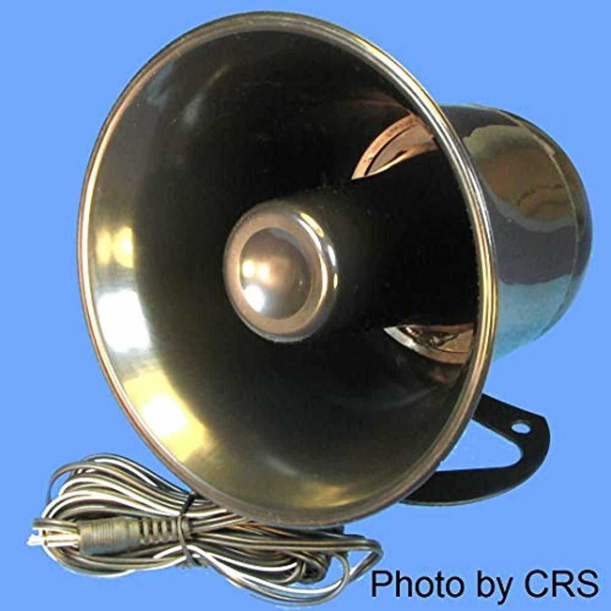 Workman CB PA Speaker Horn Black w/Plug & Wire - 5 inch for
