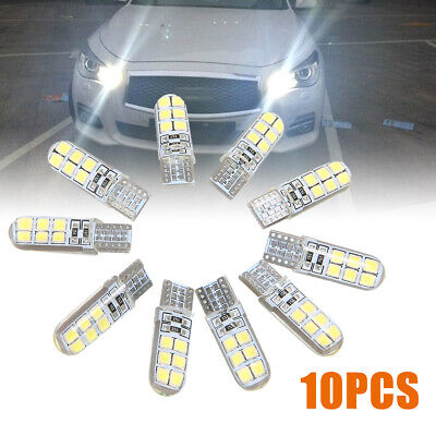 10x White LED Canbus Error Free Silica Light Bulb Xenon T10 W5W 12SMD 2835 6000K