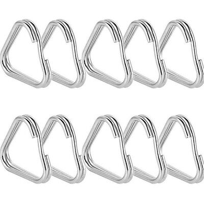10pcs Metal Triangle Rings Split Camera Strap Hook Replacement Part Accessory
