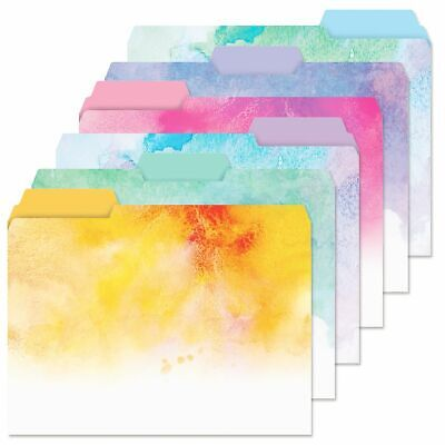 Decorative Splash File Folders Colorful Designs Set Of 24 Documents Storage New