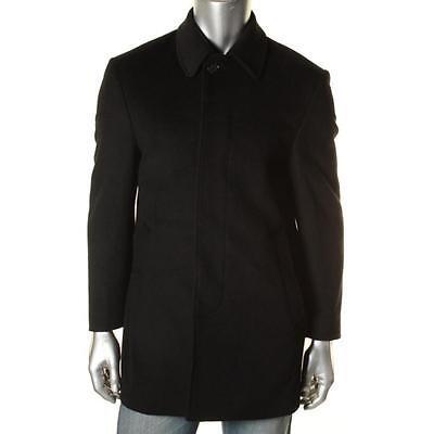 Lauren Ralph Lauren 3053 Mens Black Wool Blend Pea Coat Outerwear 40S BHFO
