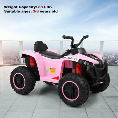 Kids Ride On Car 6V Electric Battery Power Wheels 2 Speed MP3 LED Light Toy Pink
