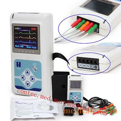 3 Channel Ecg Holter Ecgekg Holter Systemtlc9803 24 Hours Recording Monitor