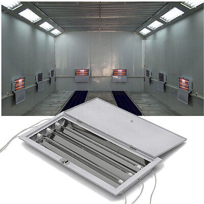 8x3kw Spray Baking Booth Infrared Paint Curing Lamps